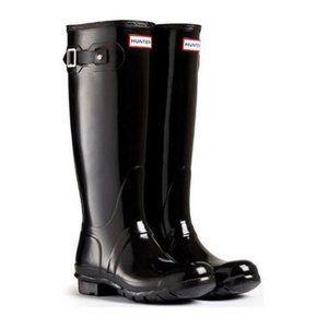 Hunter Boots - Black + Boot Socks + Boot Shine